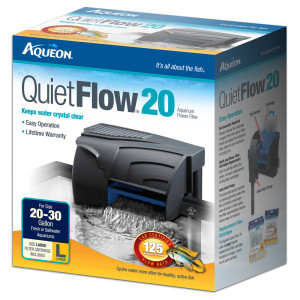 Aqueon filter quietflow 20 up to 30 gal for Fish tank filter pump walmart