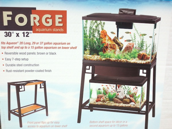 Aqueon forge aquarium stands top fits 20 long 29 gal for 29 gallon fish tank stand