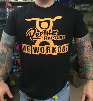 "Reptile Rapture - 2017 Tshirt - ""WE WORKOUT"""