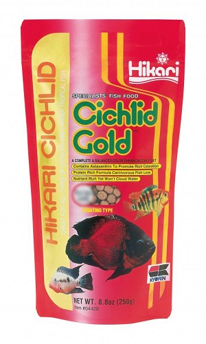 HIKARI CICHLID GOLD medium pellet - 8.8 oz bag