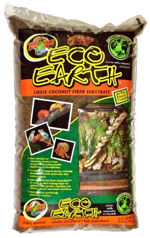 ZOO MED ECO EARTH - 8 qt loose baq
