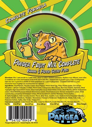 z OUT OF STOCK - PANGEA COMPLETE DIET FRUIT MIX - BANANA & PAPAYA - 2 oz