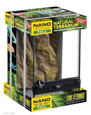 "EXO-TERRA GLASS TERRARIUMS - NANO TALL - 8"" x 8"" x 12"""