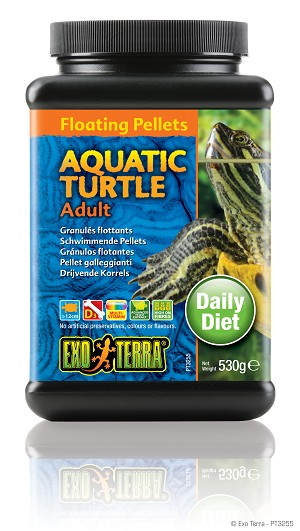 EXO TERRA - AQUATIC TURTLE FLOATING PELLETS - ADULT 18.6 oz jar
