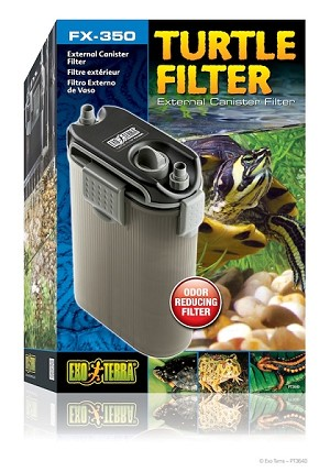 z OUT OF STOCK - EXO TERRA FX-350 TURTLE FILTER - up to 40 gal