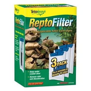 TETRAFAUNA REPTO FILTER CARTRIDGE - Medium 3 pack, cartridges fit the Decorative ReptoFilter