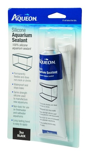 ANIMAL SAFE AQUARIUM SILICONE - black, 3oz