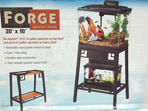 AQUEON - FORGE AQUARIUM STANDS - top fits 10 GAL & bottom fits 5.5 GAL