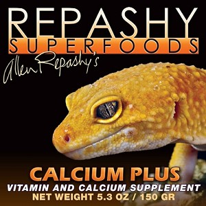 REPASHY CALCIUM PLUS GREAT FOR AMPHIBIANS & GECKOS 6 oz