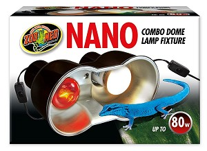 ZOO MED - NANO DOME LIGHT FIXTURE - 80 WATTS max combined (40 per socket)