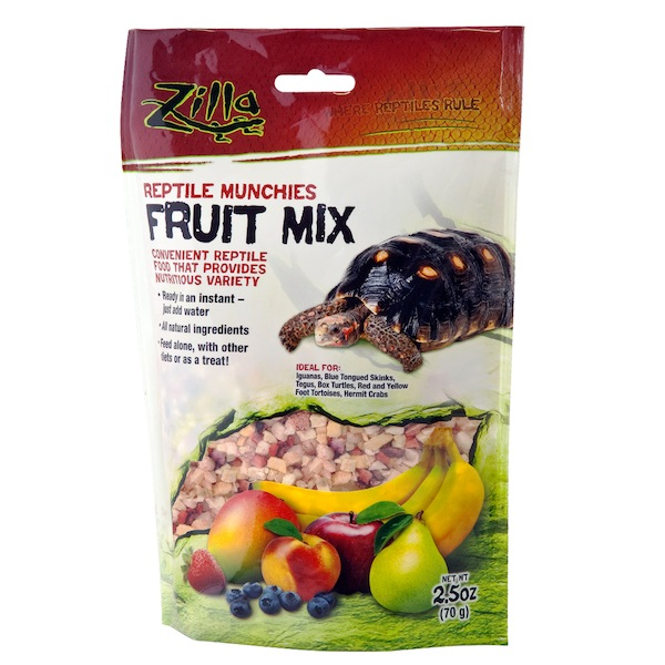 ZILLA FRUIT MIX - REPTILE MUNCHIES -  4 OZ BAG