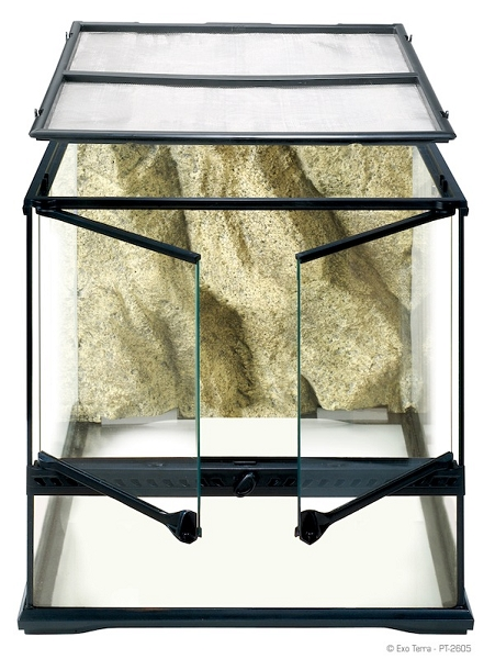 OUT OF STOCK - EXO-TERRA GLASS TERRARIUMS - SMALL WIDE - 18