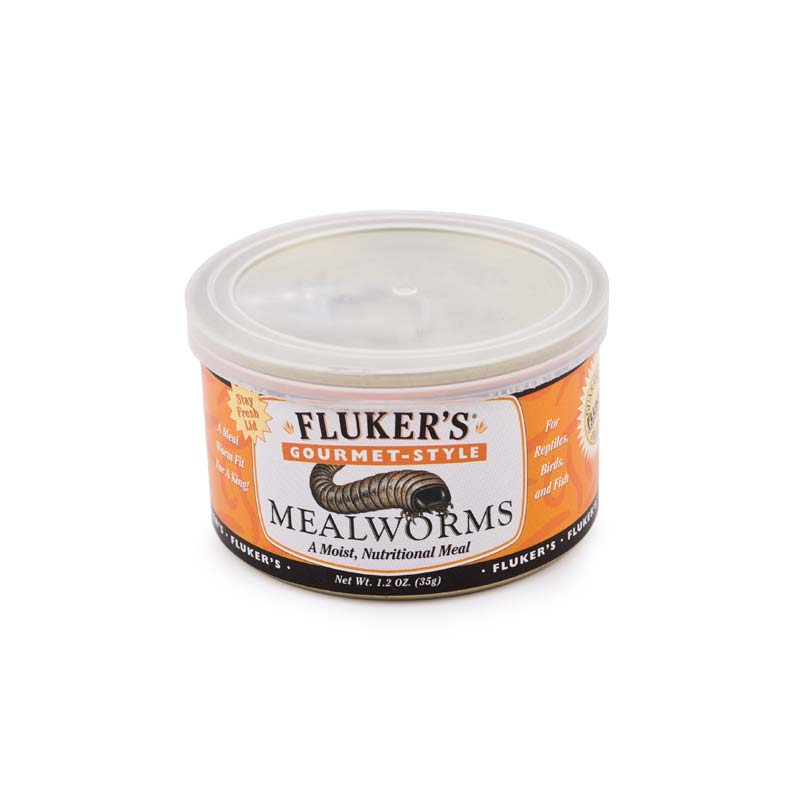 FLUKERS  MEALWORMS, 1.2 oz can