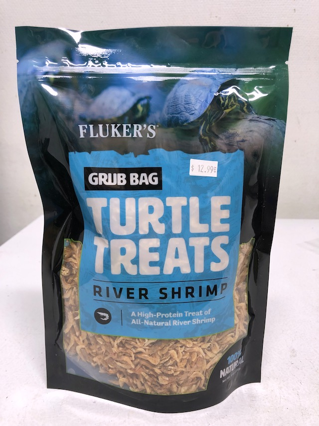 FLUKERS RIVER SHRIMP - 12 OZ BAG, GRUB BAG TURTLE TREAT - Dried
