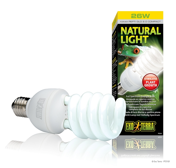(OUT OF STOCK) - EXO TERRA REPTI GLO natural light uvb - 26 WATT