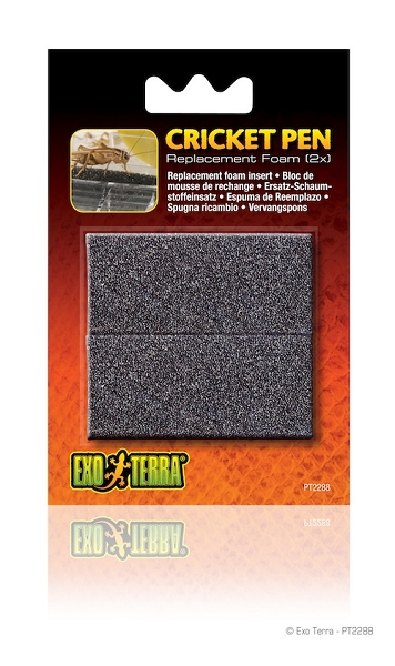 z OUT OF STOCK - EXO TERRA CRICKET PEN - REPLACEMENT FOAM (2x)