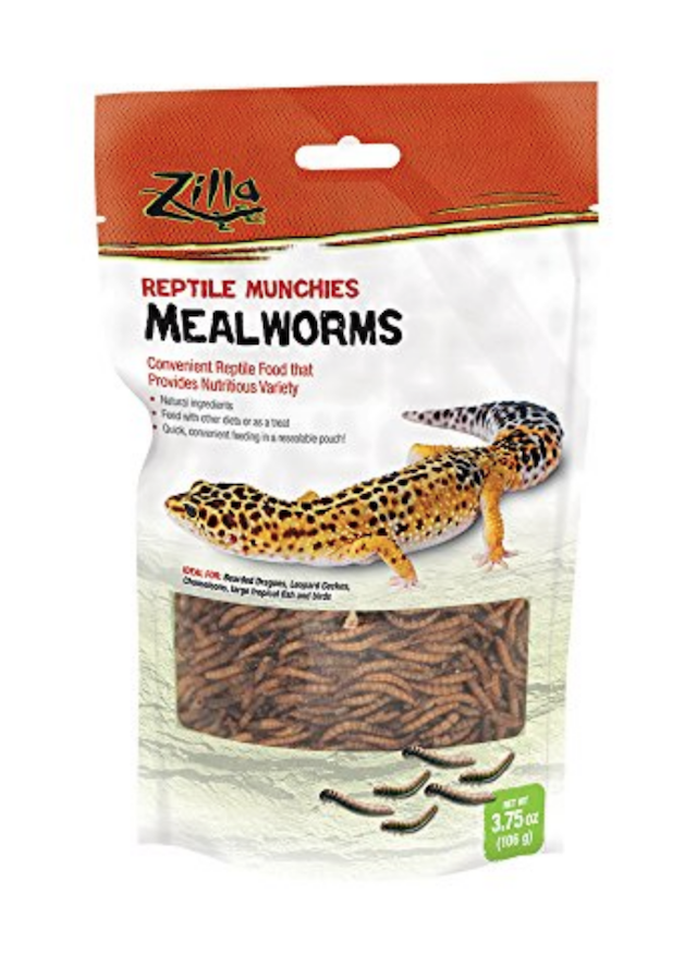 ZILLA REPTILE MUNCHIES - DRIED MEALWORMS - 3.75 OZ bag