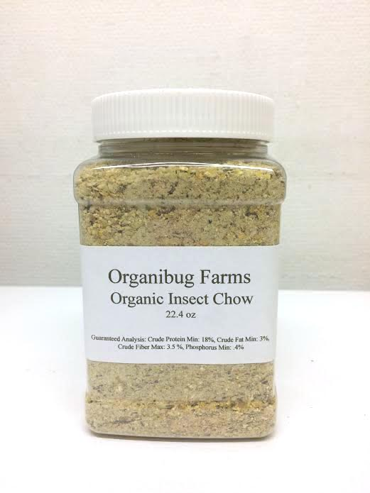 ORGANIC INSECT CHOW - 22.4 oz jar