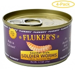 FLUKERS SOLDIER WORMS, 1.2 oz can