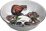 KOMODO - SKULL & SNAKE STAINLESS STEEL BOWL - 3 sizes