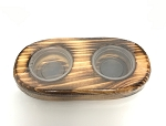 WOOD SOLO GECKO DISH - 2 CUPS