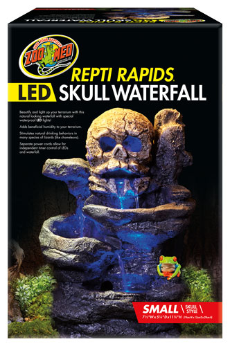 OUT OF STOCK - ZOO MED SM LED WATERFALL - SKULL