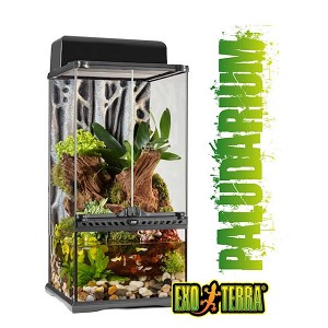 OUT OF STOCK - EXO-TERRA GLASS TERRARIUMS - MINI XTALL - 12' x 12' x 24' (PALUDARIUM)