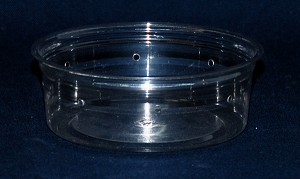 CLEAR HOLE PUNCHED PLASTIC CONTAINER - 8oz
