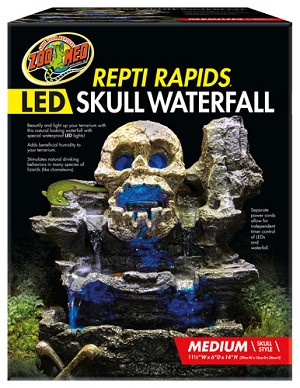 OUT OF STOCK - ZOO MED MED LED WATERFALL - SKULL